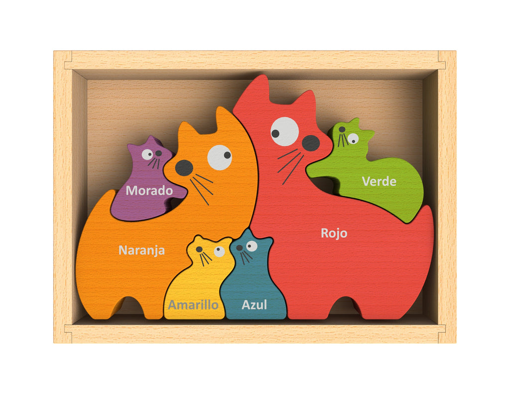Cat Family Bilingual Puzzle - Super Toy