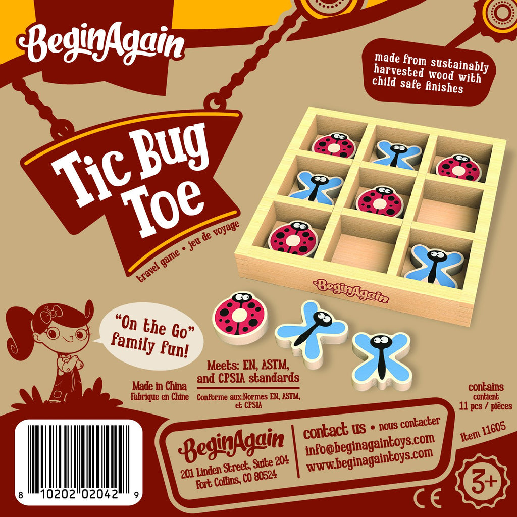 Tic Bug Toe Travel Game - Super Toy