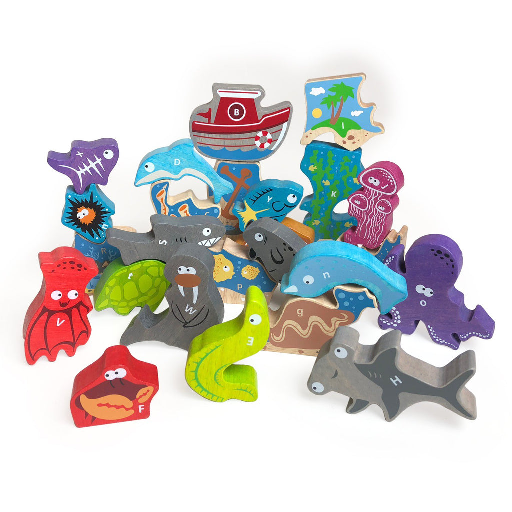 Ocean A to Z Puzzle and Playset - Super Toy