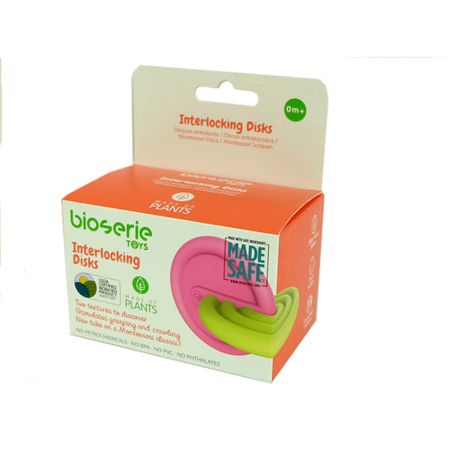 Plant-Based Interlocking Disks - Pink & Green