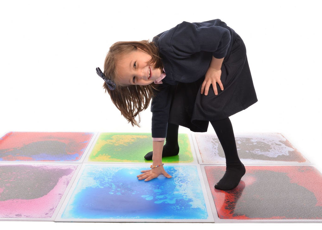 Liquid Gel Floor Tile- Blue - Super Toy