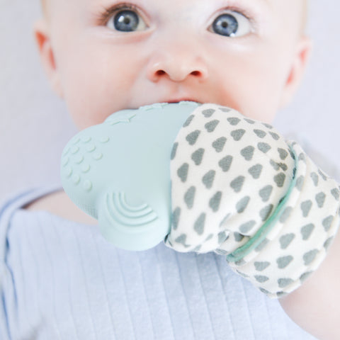 baby teething mitt