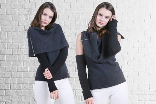 Eco Stole Sweater with Arm Warmer