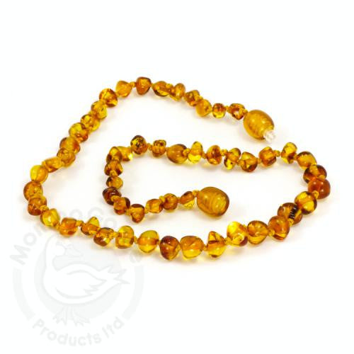 Baltic Amber Baroque Honey Teething Necklace