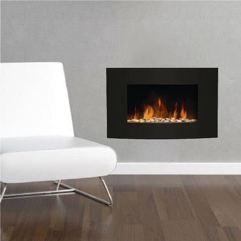 fireplace wall decal removable living room decor apartment fire