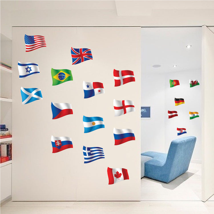 World Map And Aquatic Animals Wall Decal Cutzz
