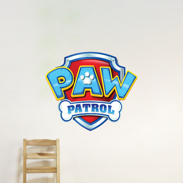 Paw Patrol Logo Wall Decal Kids for Bedroom Apartment Wall Decor Toys TV  Show Wall Mural, e05