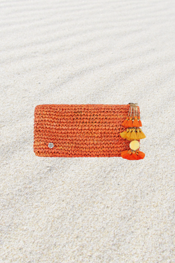Alegre Raffia Mini Clutch