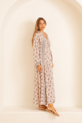 Rayon Print Fiore Maxi Dress
