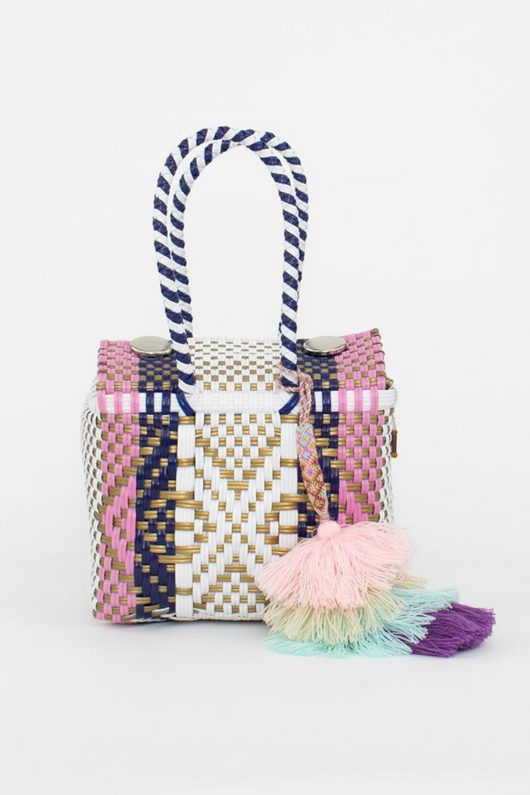 Woven Mini Box Bag