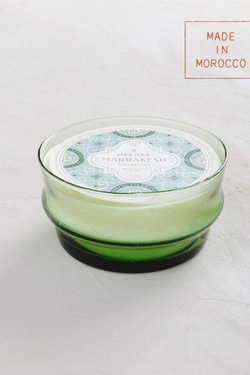 Moroccan Mint Green Glass Candle Bowl