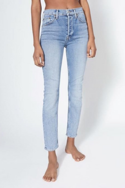 90'S High Rise Ankle Crop Jean