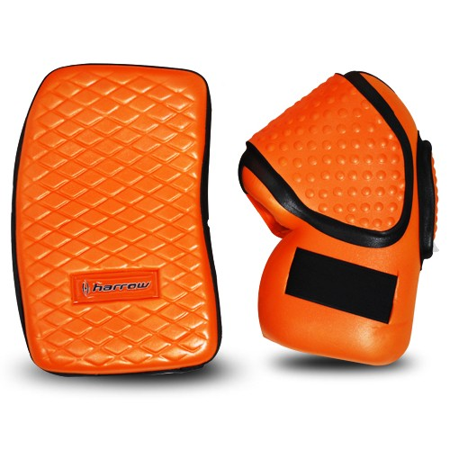 Harrow Field Hockey Goalie Gloves, Orange