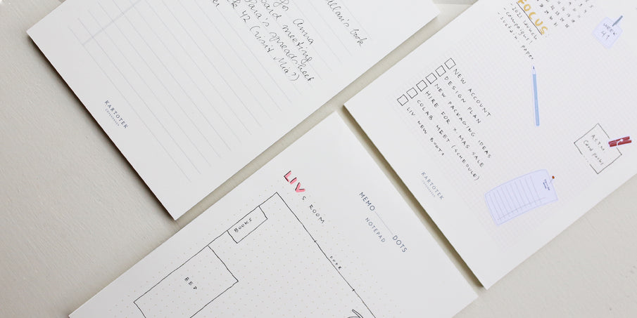 Meet our three new memo pads
