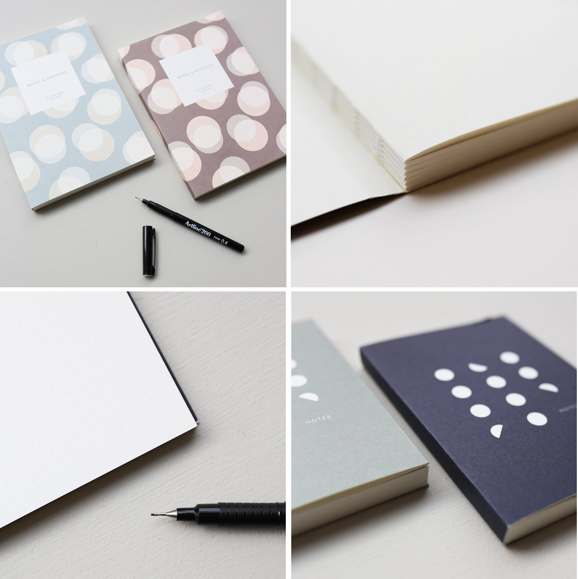 Open flat notebooks