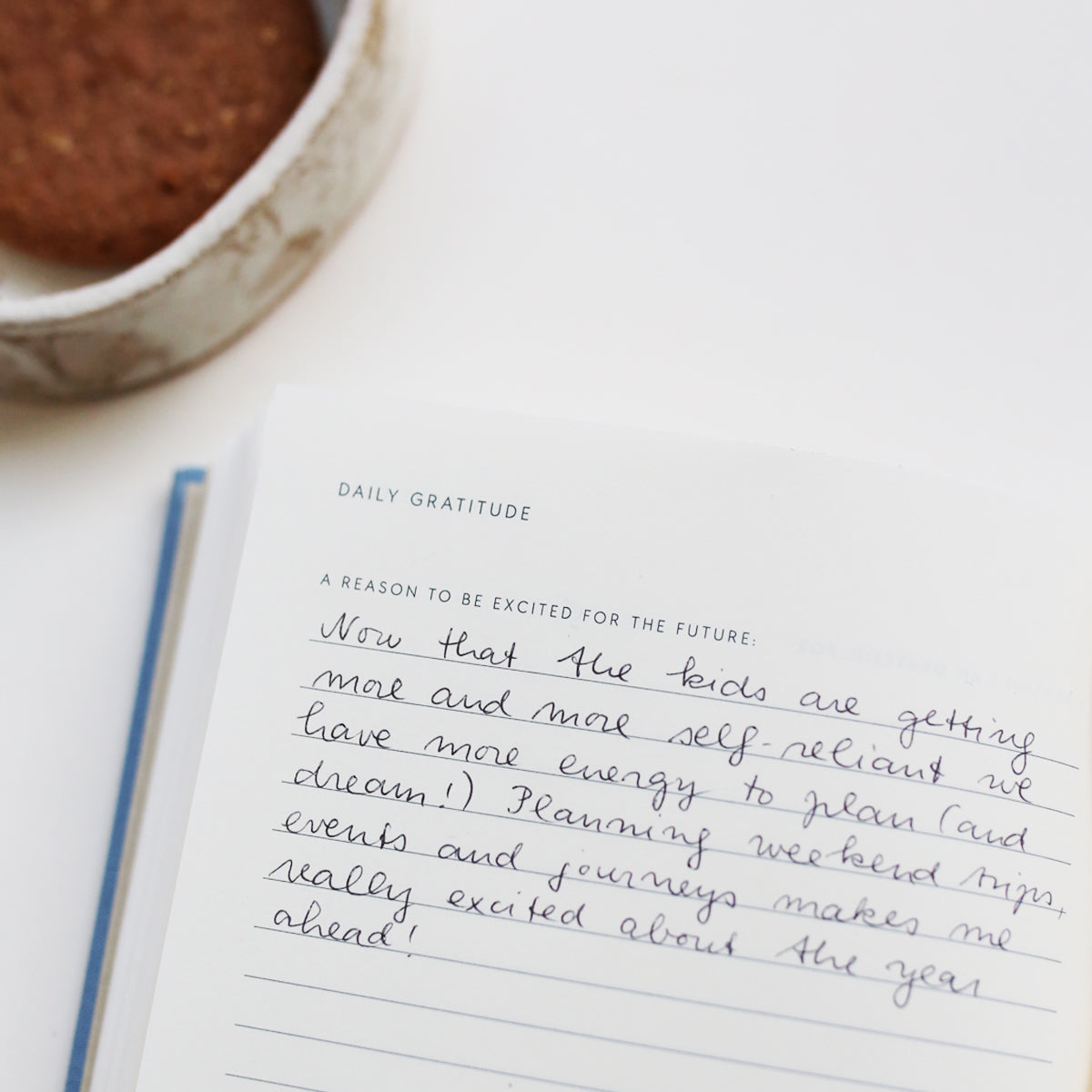 A question in the Gratitude Journal