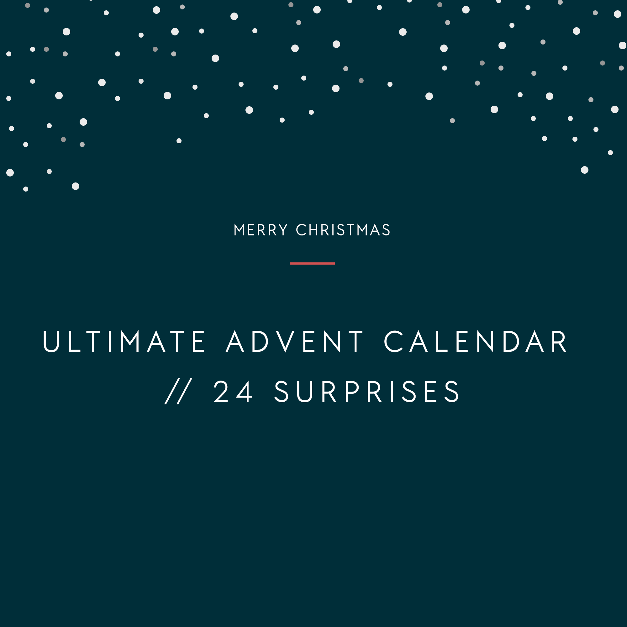 ULTIMATE ADVENT CALENDAR 2019 // 24 SURPRISES