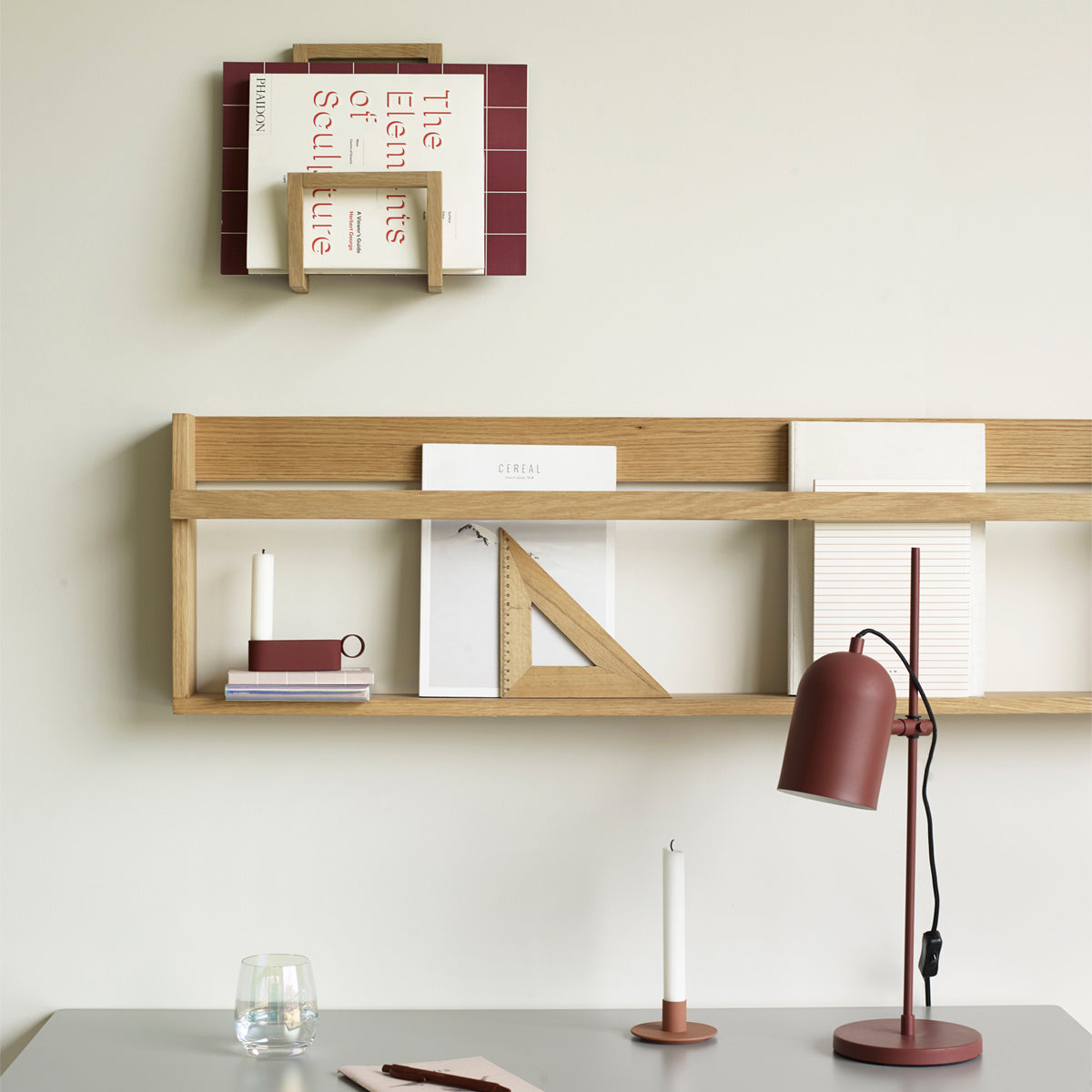 MAGAZINE HOLDER FOR WALL // OAK