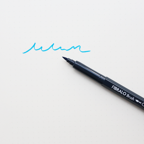 FIBRALO BRUSH MARKER PEN // COBULT BLUE