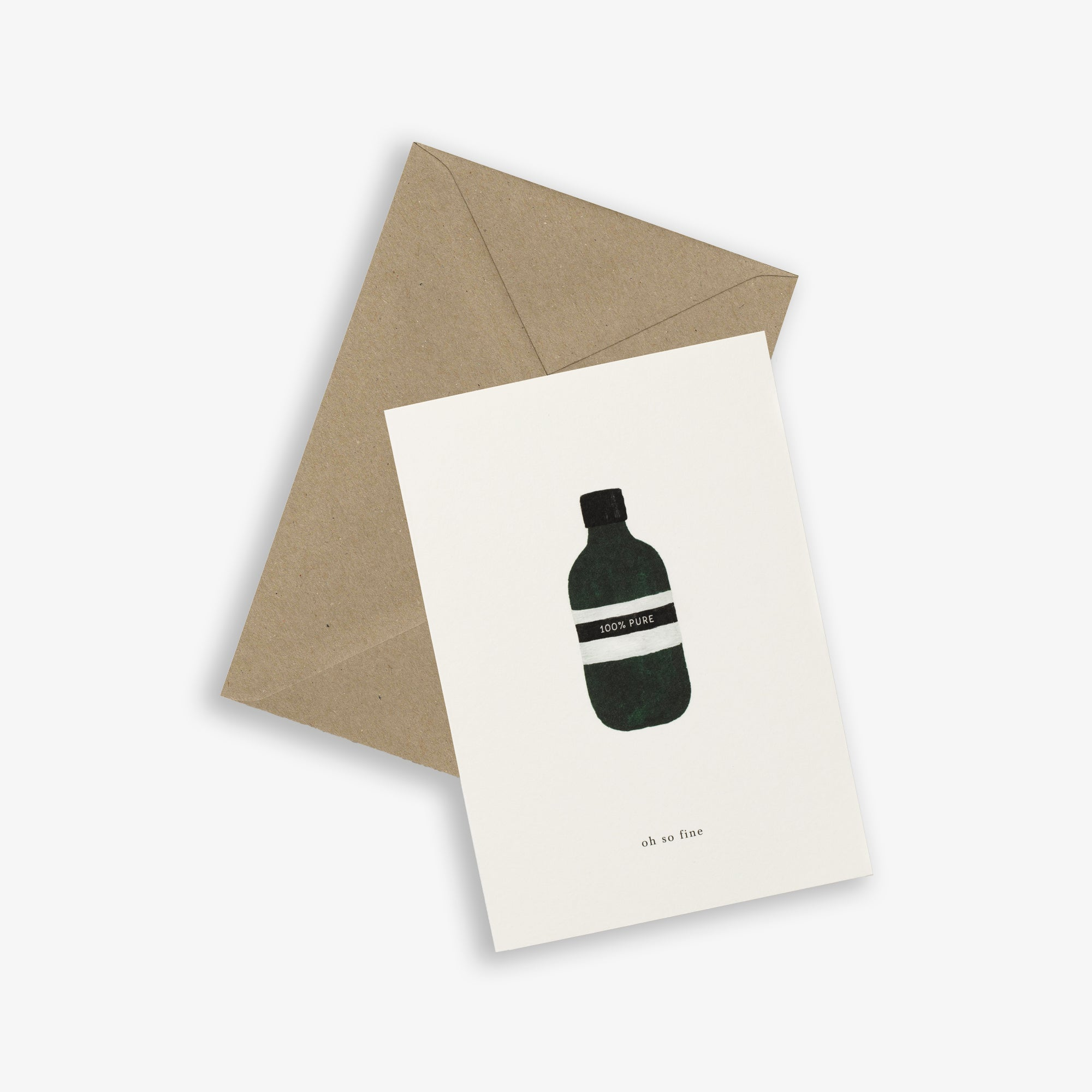 GREETING CARD / BOTTLE
