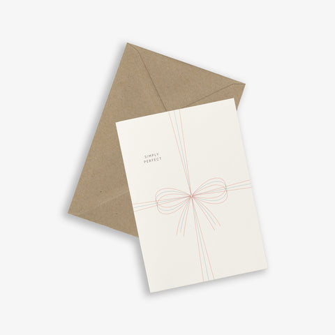 GREETING CARD / BOW
