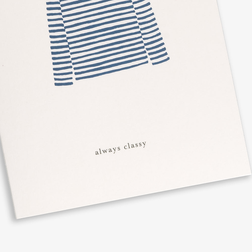 GREETING CARD / SWEATER BLUE