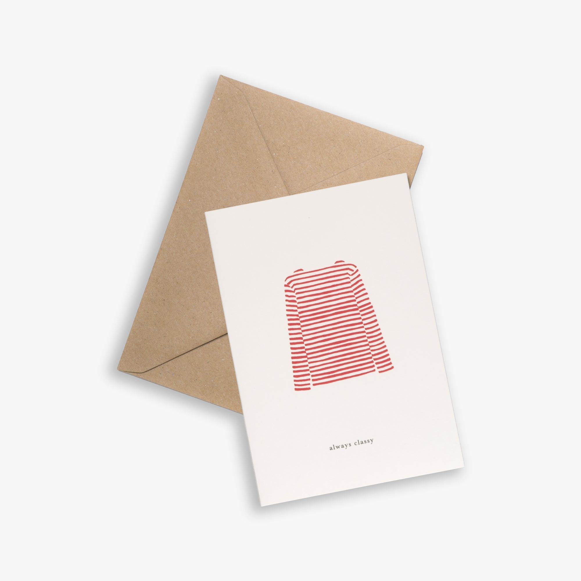 GREETING CARD / SWEATER RED