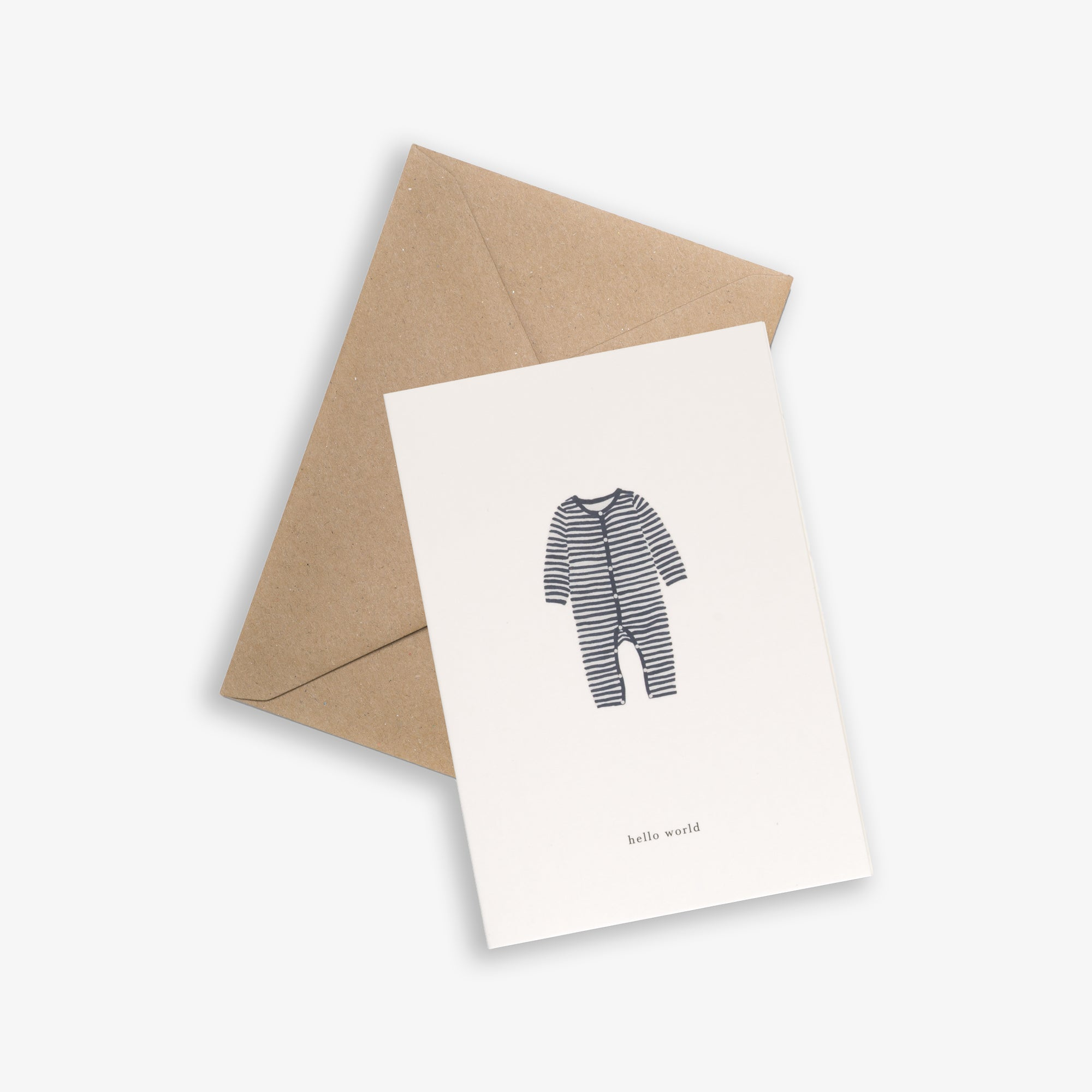 GREETING CARD / BABY ONESIE NAVY