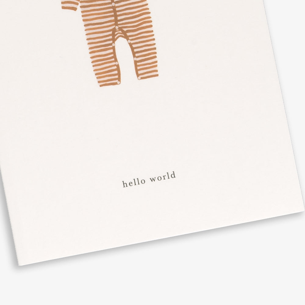 GREETING CARD / BABY ONESIE OCHRE