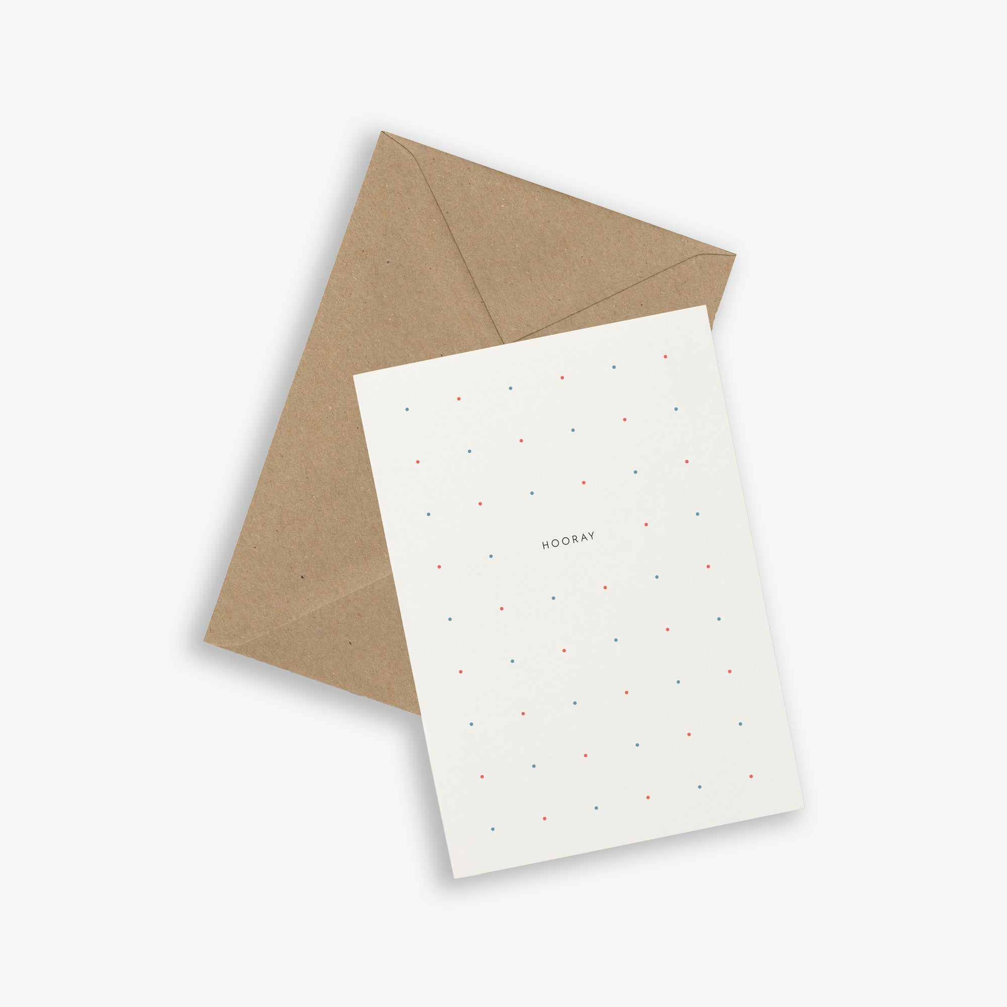 GREETING CARD / HOORAY DOTS