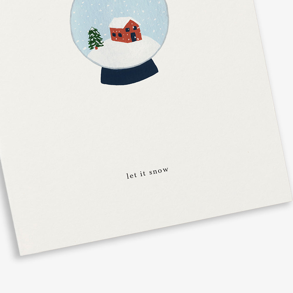 GREETING CARD / SNOWGLOBE