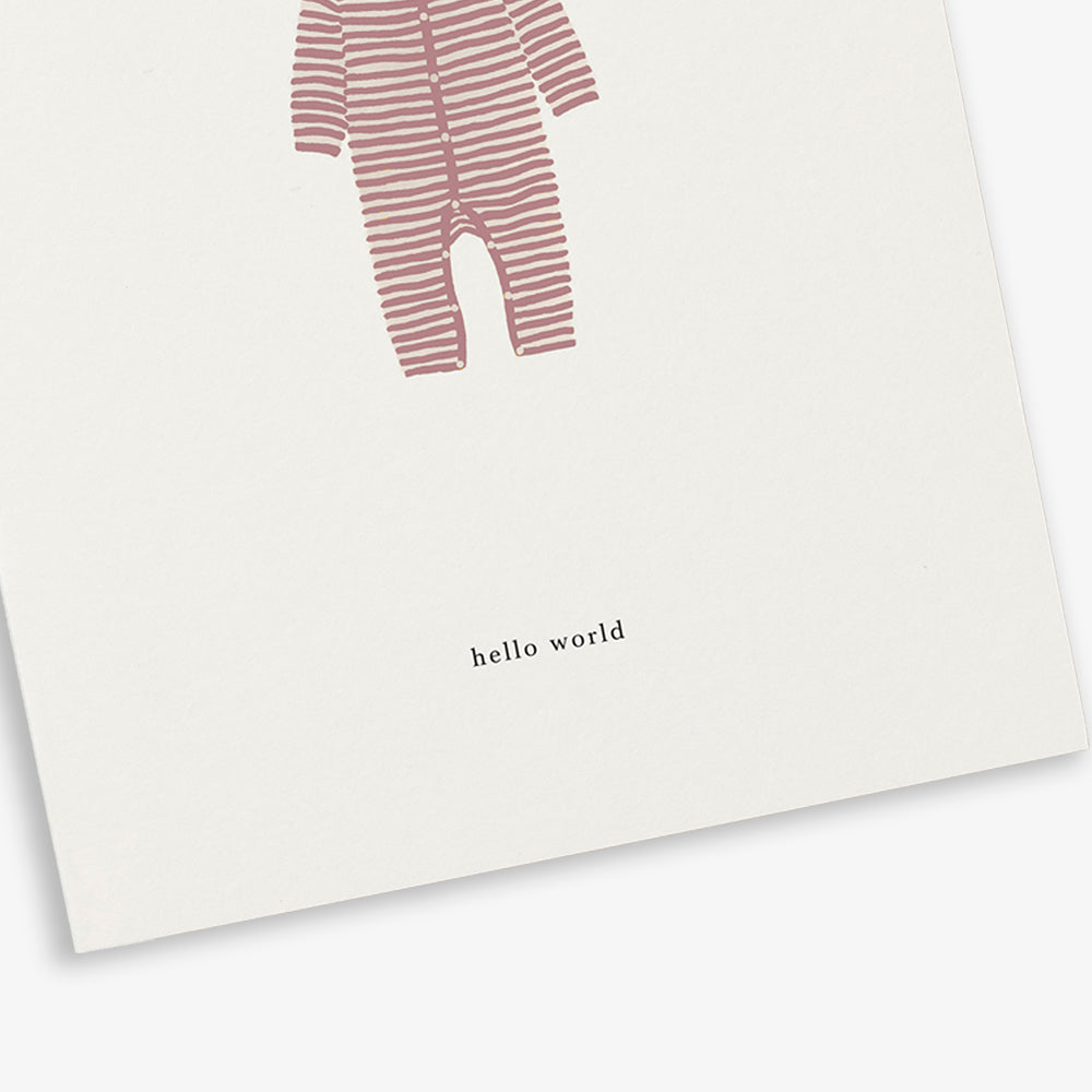 GREETING CARD / BABY ONESIE BLUSH