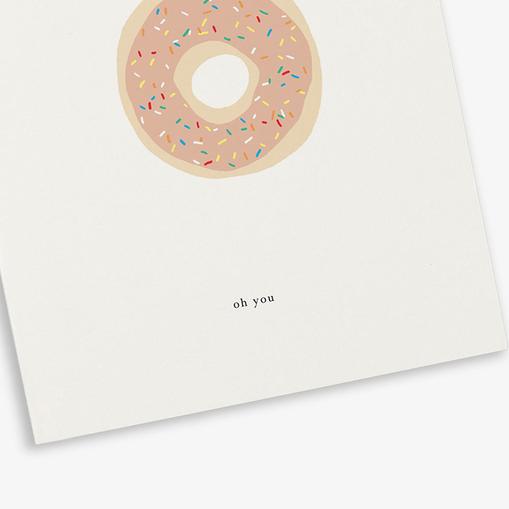 GREETING CARD / DONUT