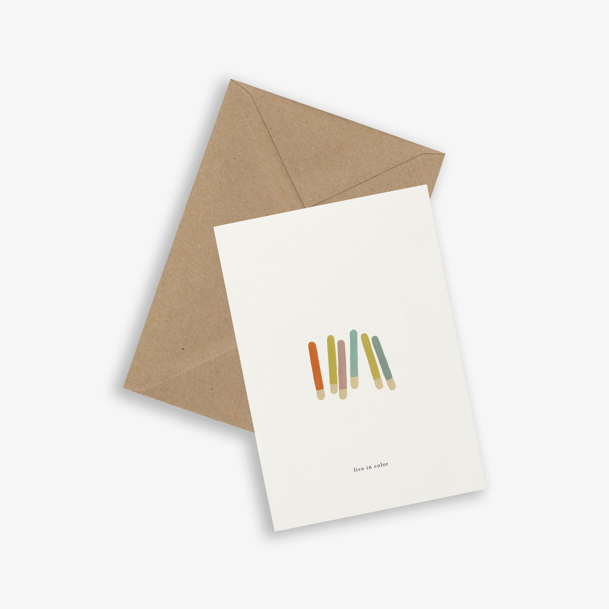 GREETING CARD / COLOR STICKS