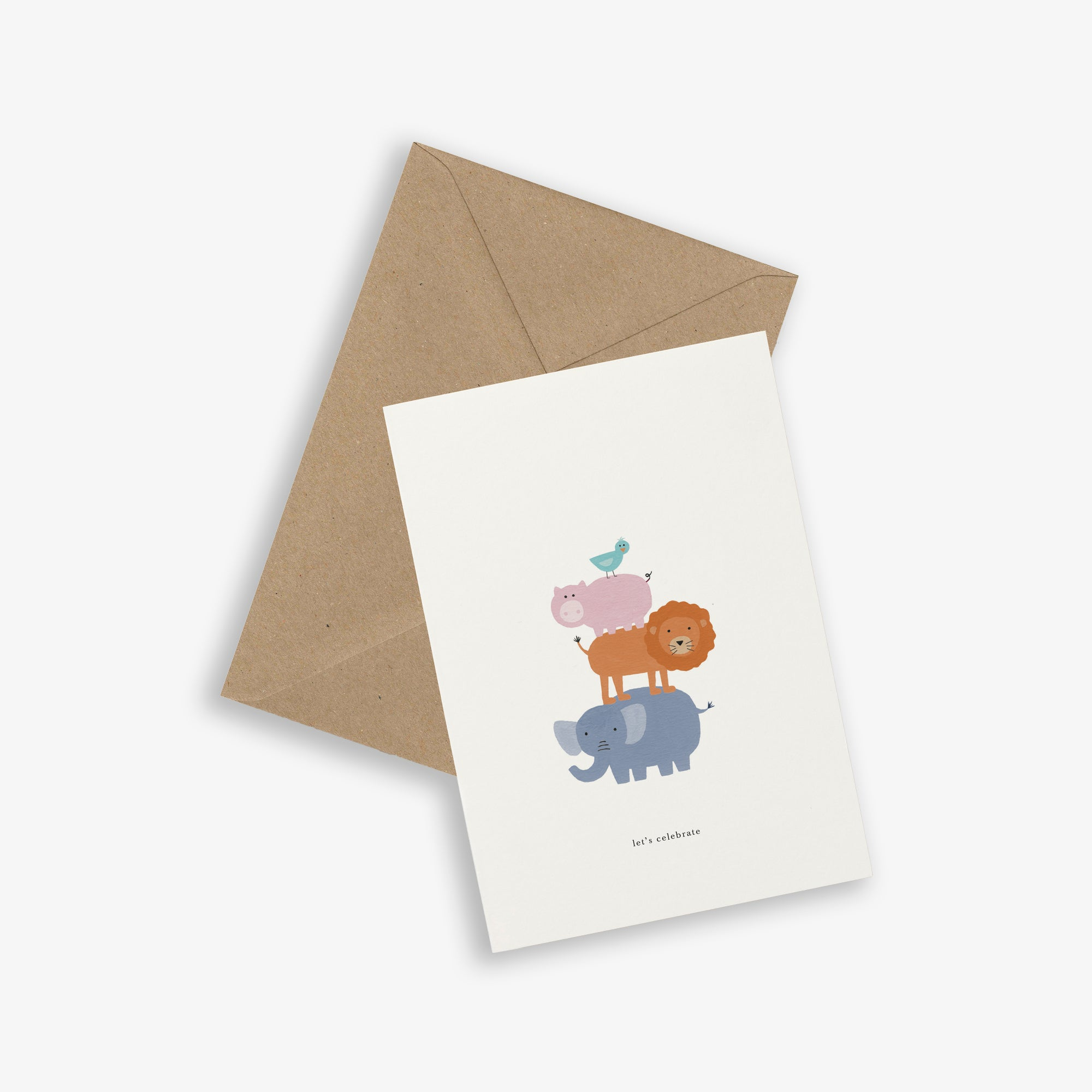 GREETING CARD / ANIMAL TOWER