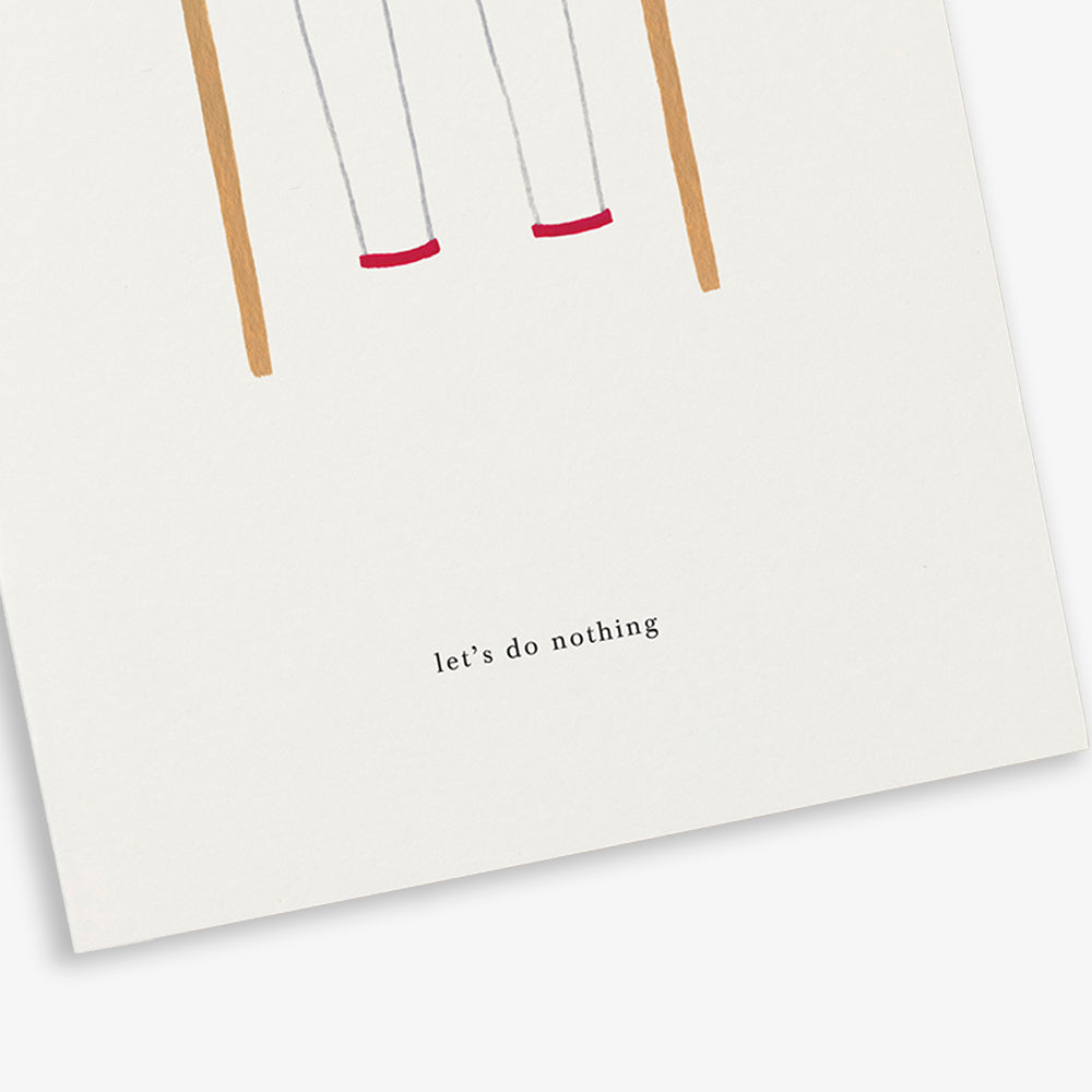 GREETING CARD / SWING SET