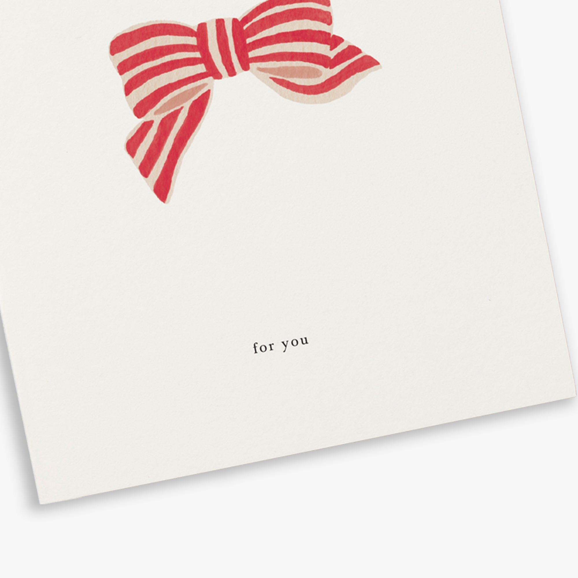 GREETING CARD / RIBBON BOW