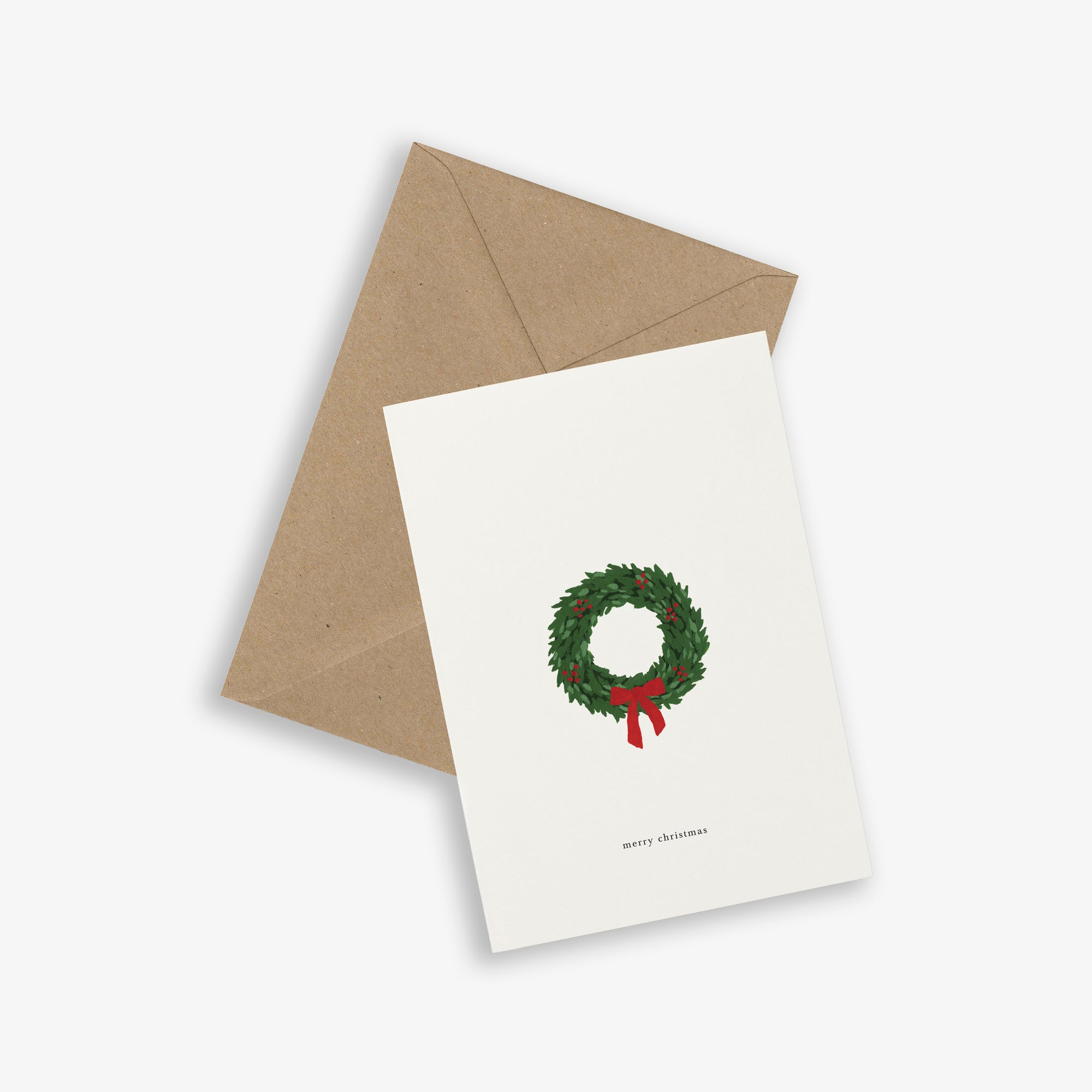 GREETING CARD / CHRISTMAS WREATH