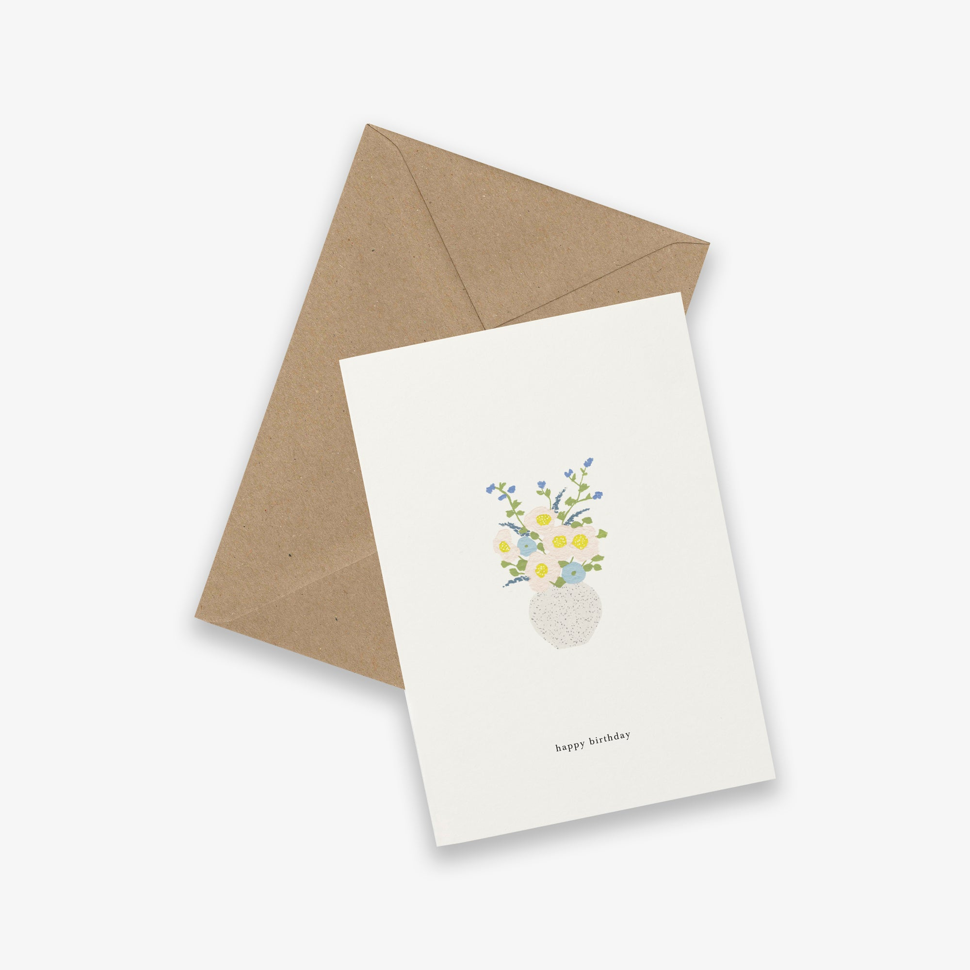 GREETING CARD / BIRTHDAY FLOWERS