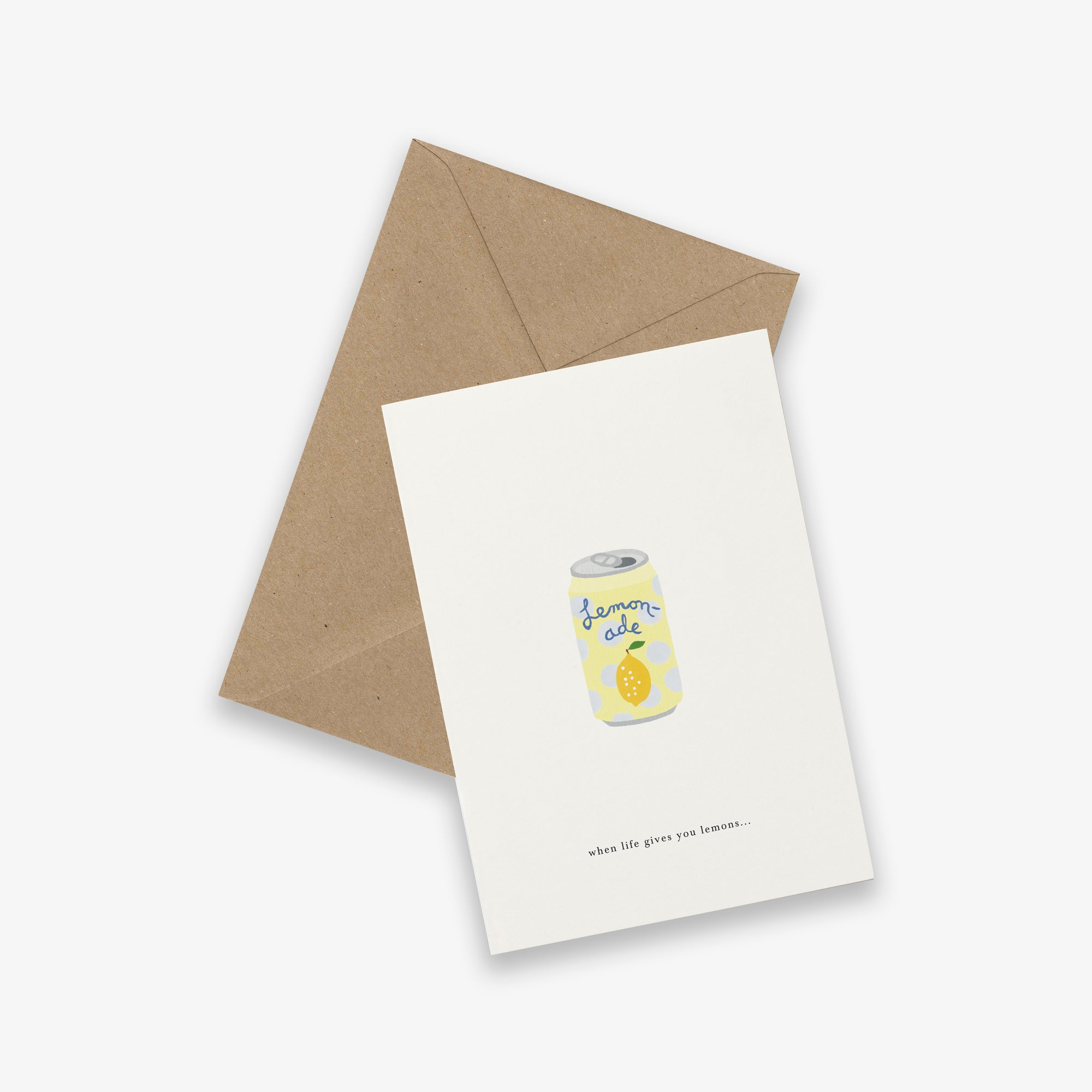 GREETING CARD // SODA CAN