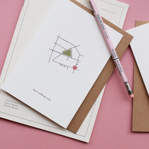 GREETING CARD // LOVE MAP