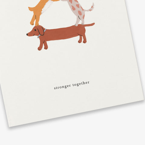 GREETING CARD // DOG FORMATION