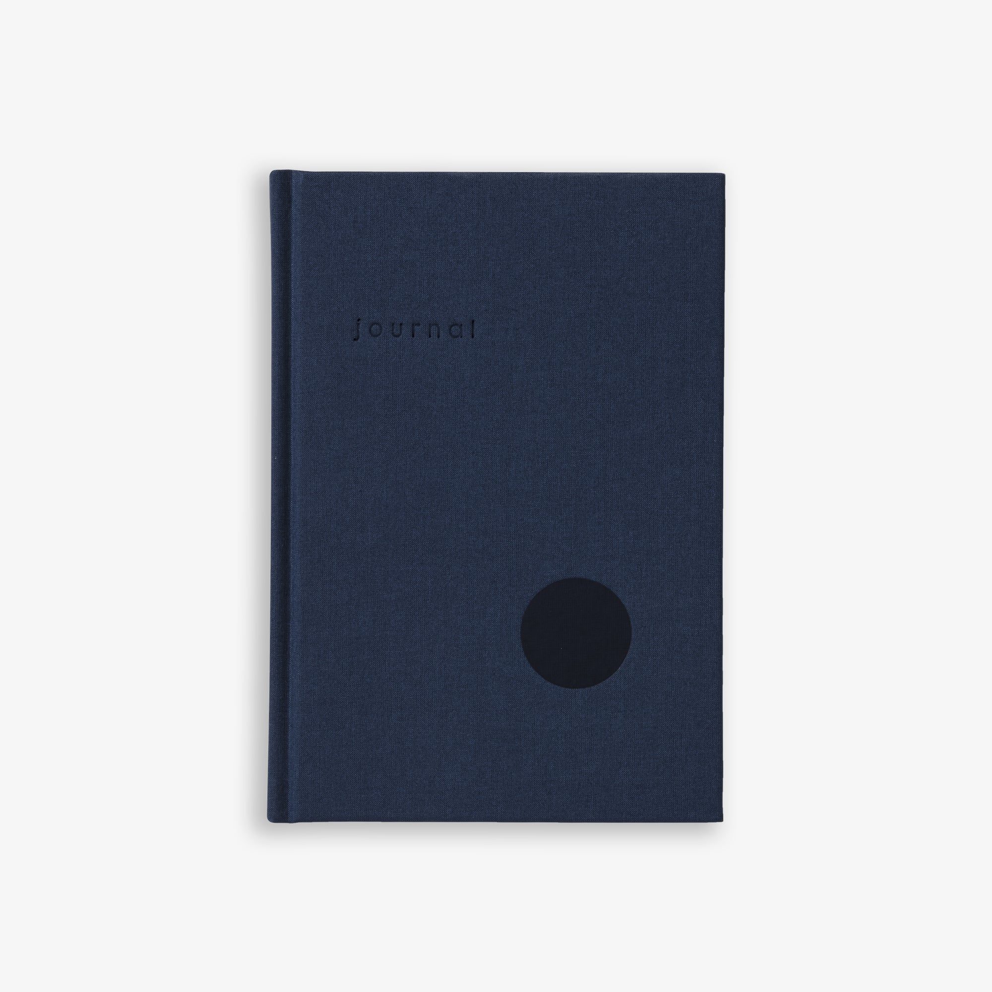HARDCOVER JOURNAL DOT GRID PAGES NAVY