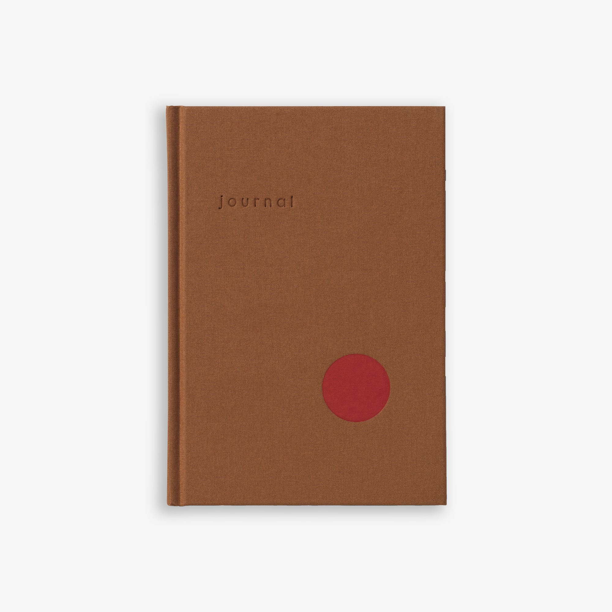 HARDCOVER JOURNAL BLANK PAGES OCHRE