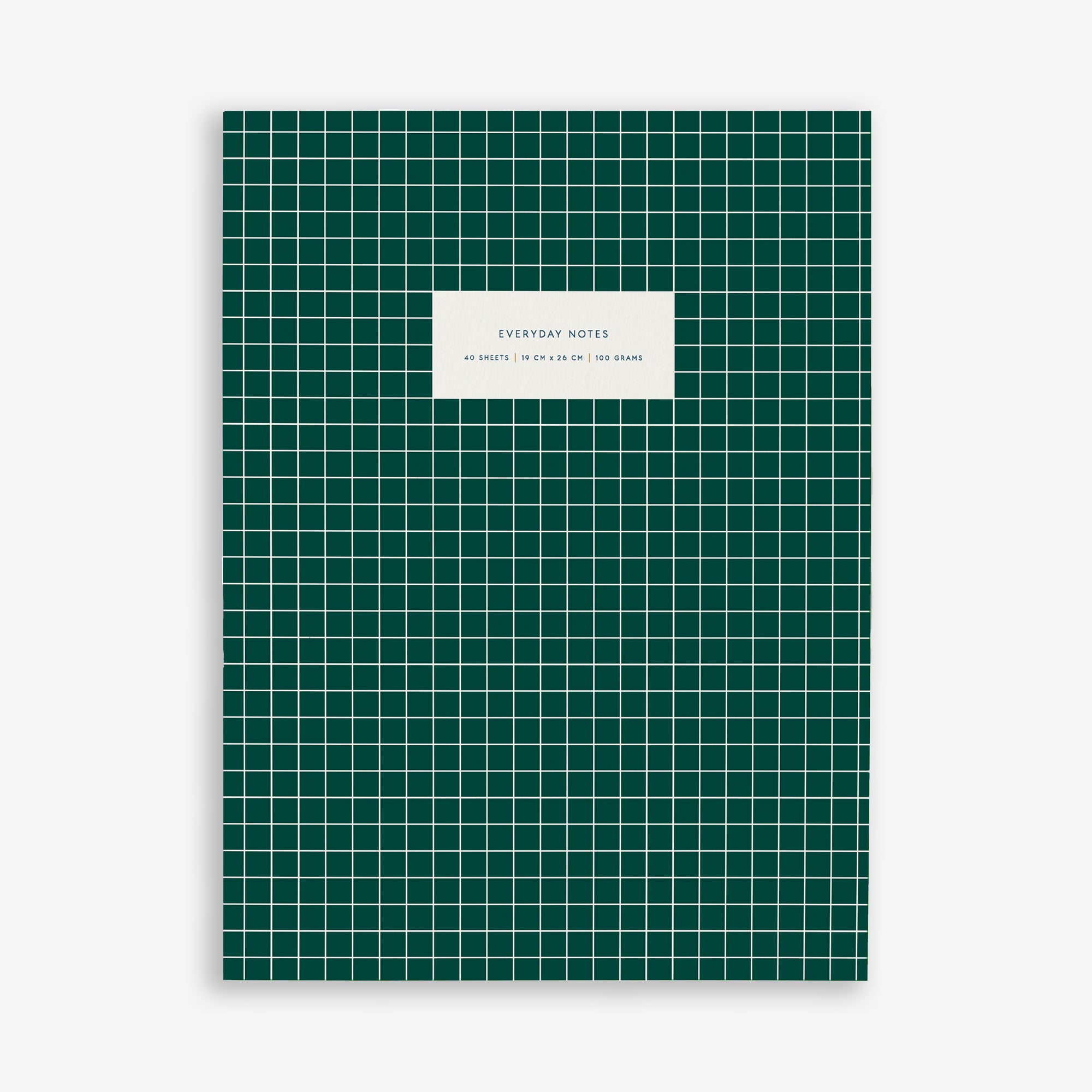 LARGE NOTEBOOK CHECK DARK GREEN
