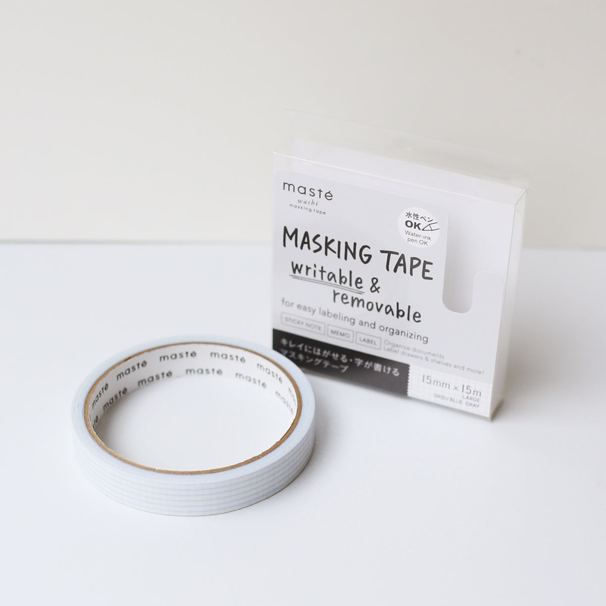 MASTÉ DRAW ME MASKING TAPE // BLUE GRAY GRID