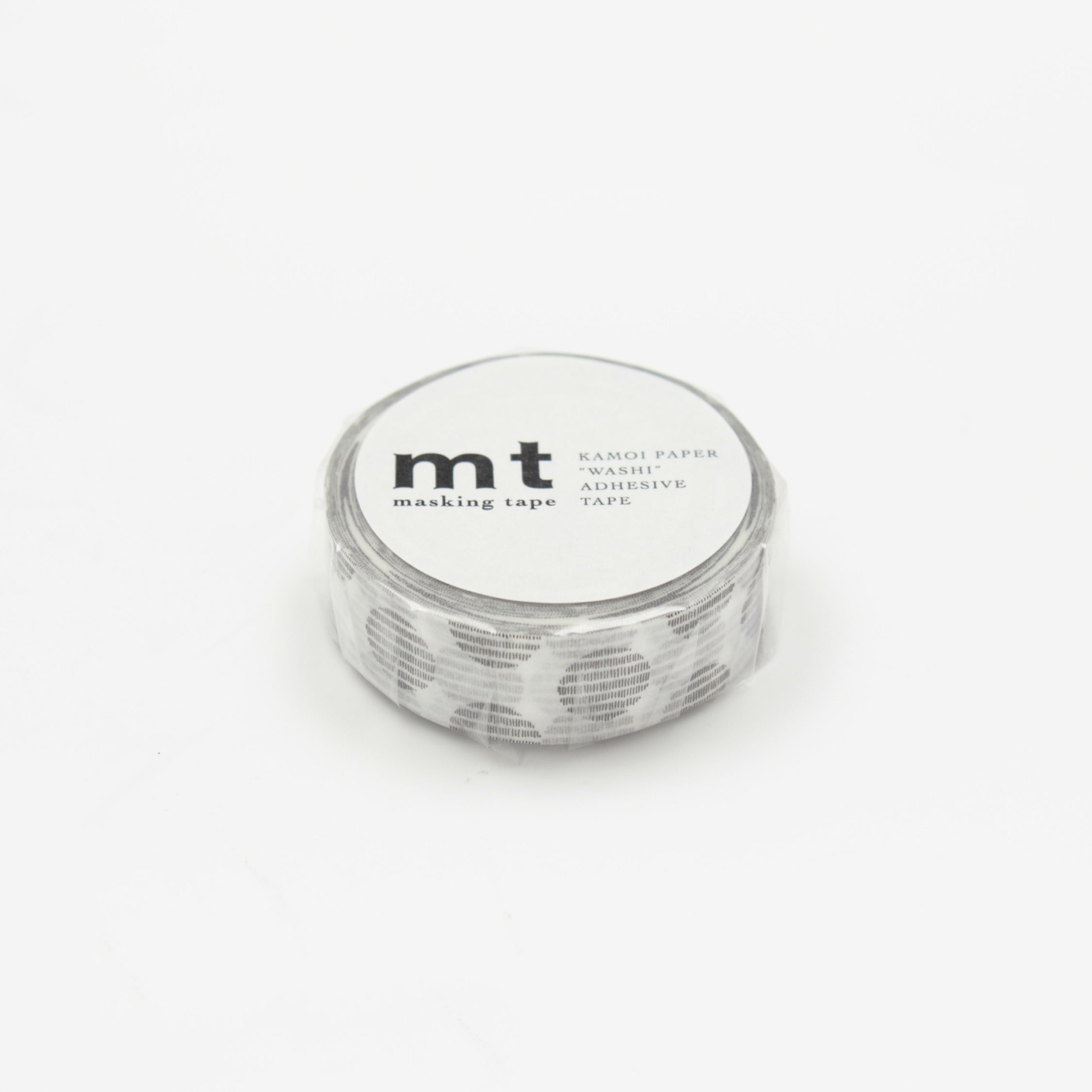 MASKING TAPE PATTERN SCRIPT DOT MONOCHROME