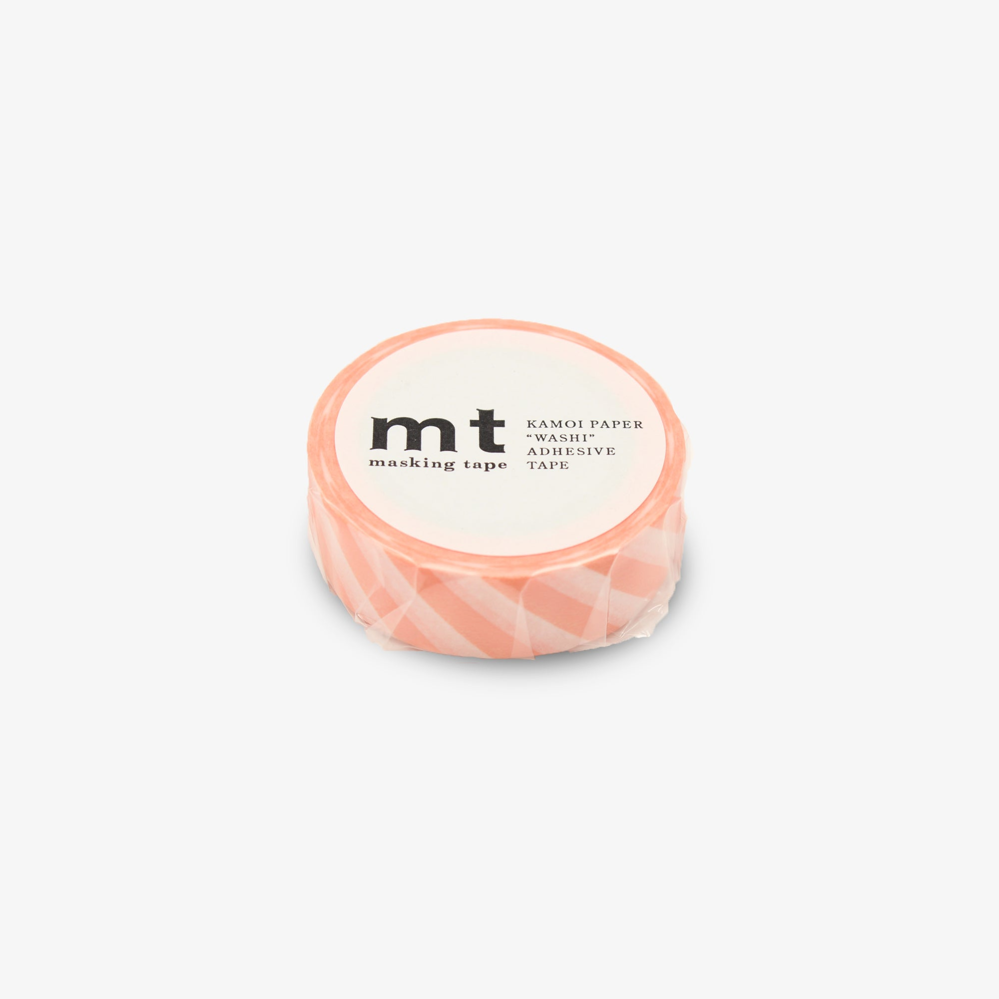 MASKING TAPE PATTERN STRIPE SALMON PINK