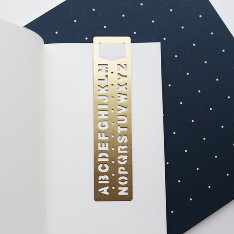 BOOKMARK ALPHABET // BRASS