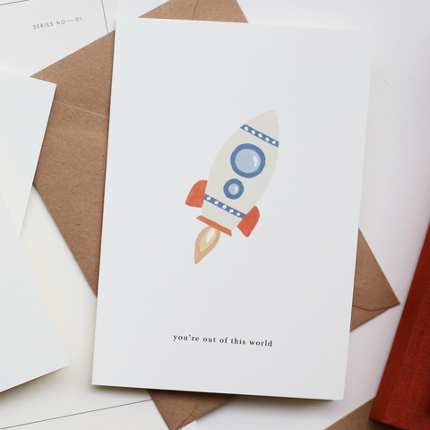GREETING CARD / ROCKET